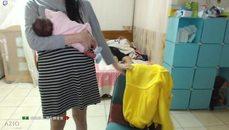 加加減乘除 卸貨了.. 媽媽抱小孩 老公?