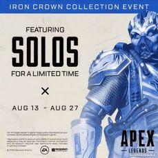 《Apex英雄》限時推出單排模式「SOLOS」