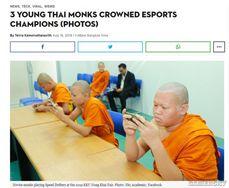 泰國三名和尚贏得電競比賽冠軍 穿僧袍領獎惹爭議