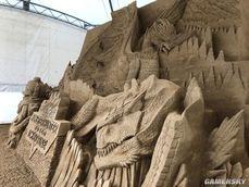 卡普空制作《魔物獵人:世界》冰原DLC大型沙雕 轟龍登場細節驚人