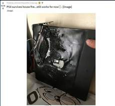 PS4 在火災中挺了過來....