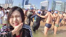 韓國女直播主戶外玩大海嘯整個滅頂