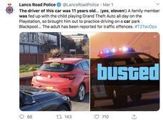11歲男童街上玩真人版GTA