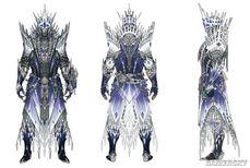 《魔物獵人世界:冰原》裝備設定稿 冰咒龍套典雅精致