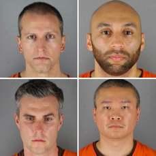 佛洛伊德事件4位員警被逮捕囚照