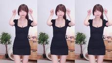 韓妹黑色連身短裙 一系列性感舞蹈