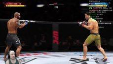 貝克玩UFC遇BUG 旋風腿阿都肯
