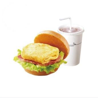 摩斯漢堡-培根雞蛋堡+冰紅茶M