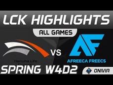 HLE vs AF 鄂爾上路被貫穿 2021 LCK春季賽Highlights