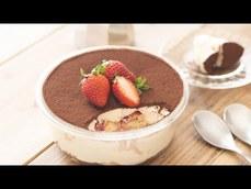 草莓口味的提拉米蘇的製作方法(不需烤)
