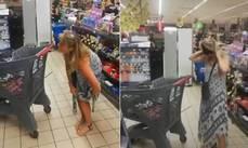 南非女子逛超市沒戴口罩遭勸導,竟當場把丁字褲脫下戴頭上