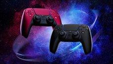 PS5 DualSense手把新配色「午夜黑」與「星塵紅」公開