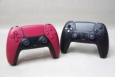 PS5 Dualsense手把新色「午夜黑」與「星塵紅」實物照片
