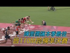 37年來第一人 陳奎儒 進入男子110公尺跨欄24人準決賽