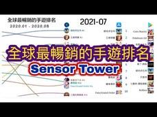 [Sensor Tower]全球最暢銷的手遊排名 2020 - 2021.08 ...