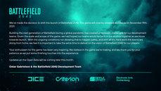 美商藝電宣布《戰地風雲 2042》將改於 2021 年 11 月 19 日於全球發行