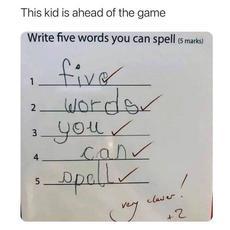 這孩子真是聰明