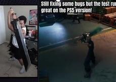 Super Louis 64又來了! 用自製破壞劍遙控器玩PS5《最終幻想 7 重製版》